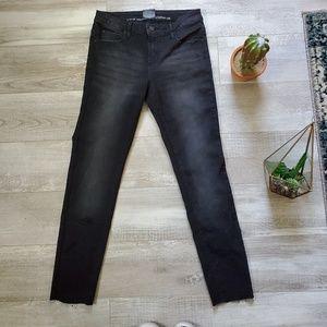 Versace V1969 Italia: black skinny raw hem